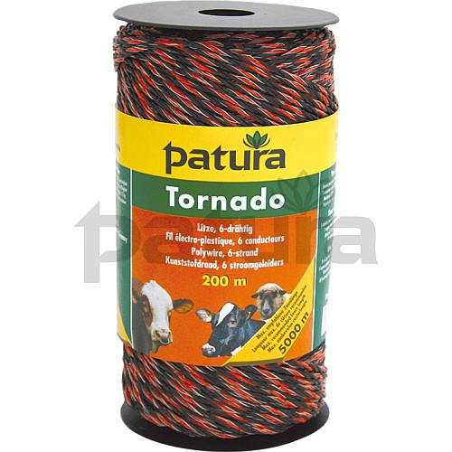 für Weidezaun bis 5000 m Patura Tornado Litze 400 m