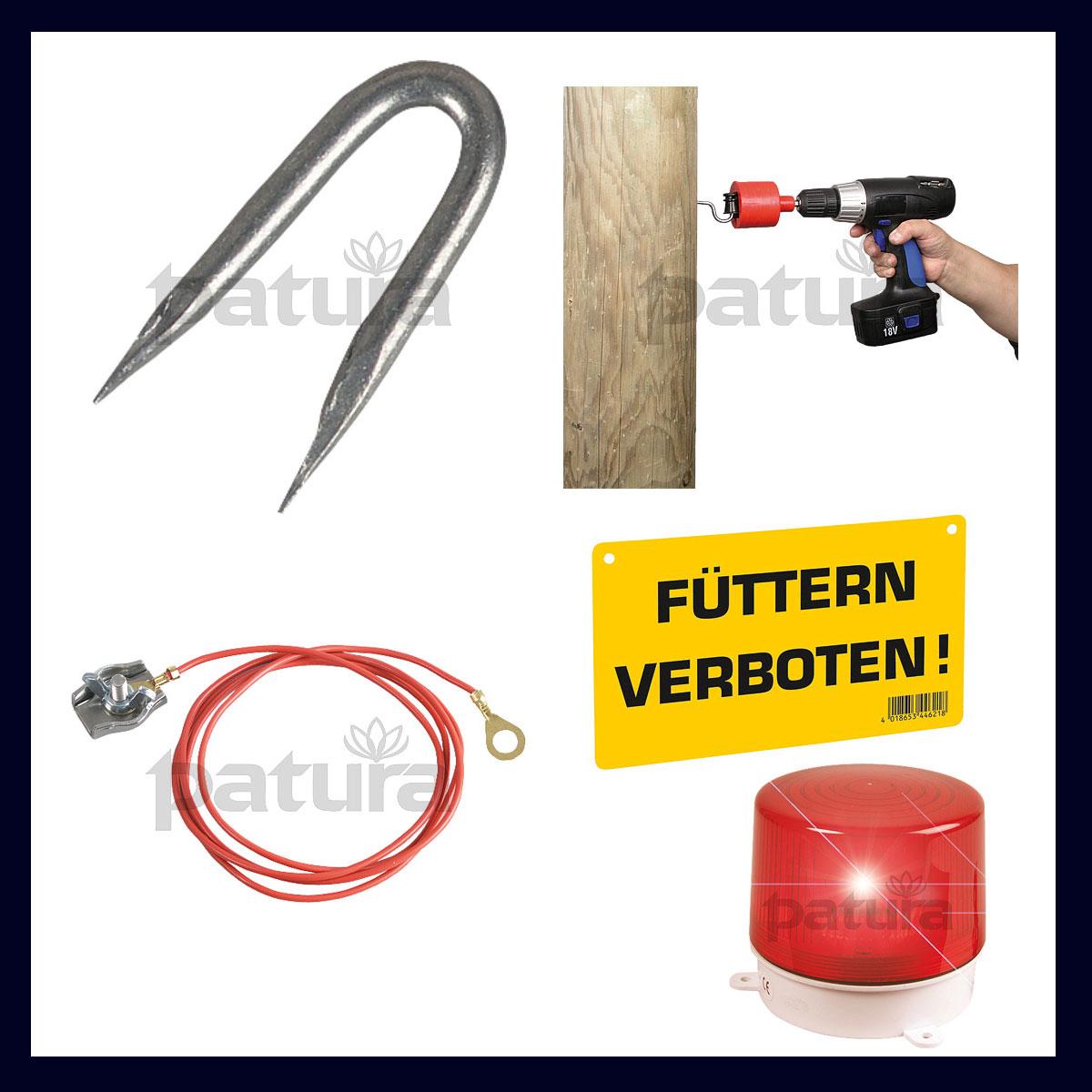 Zubehör Geräte und Zaun